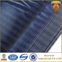 Good quality cotton polyester spandex chambray denim jeans fabric for men