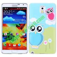 hot selling cute owl pattern Protective PC Case for samsung galaxy note 3 case