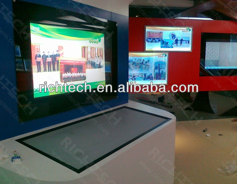 2 points touch, interactive information advertising touch monitor of 42 inch