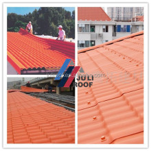 Light weight and low cost plastic rubber roof panels building material roof tile
