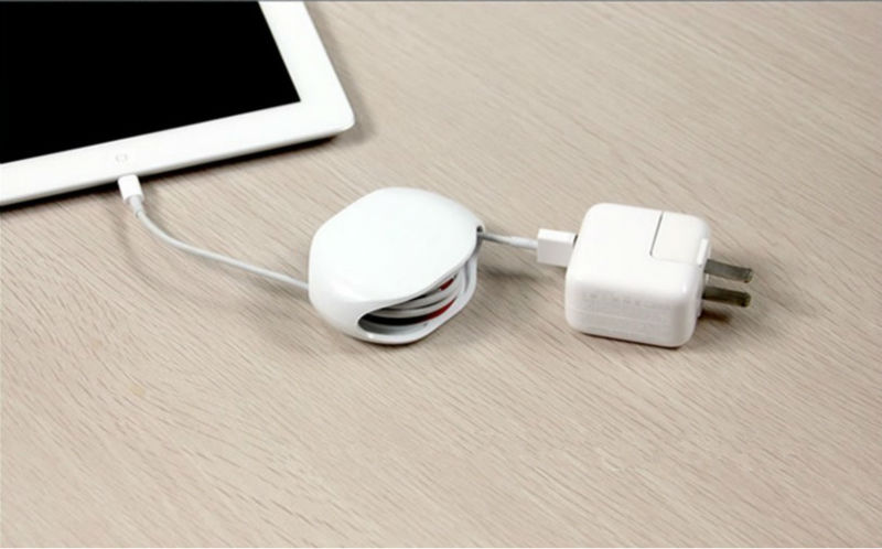 2017 top promotion gift automatic earphone cord winder