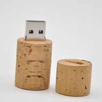 new year gifts wooden 16gb usb 2.0 bottle Cork Stopper USB flash drive