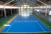 Export to U.S.A flooring tennis pvc couts flooring&made in China