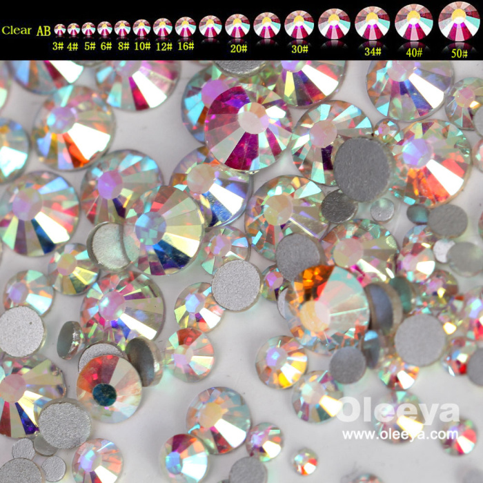 New Color Air Gold Line Rose Glass Strass Air Violet Flatback Non Hot Fix Silk Light Bikini Strass for Nail Art Decoration