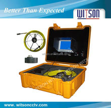 WITSON inspection scope camera,10 inch TFT LCD DVR controller,40m cable with built-in OSD meter counter