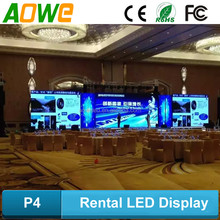 Clear vivid image new xxx images full color hd rental led display led video xx modules P4