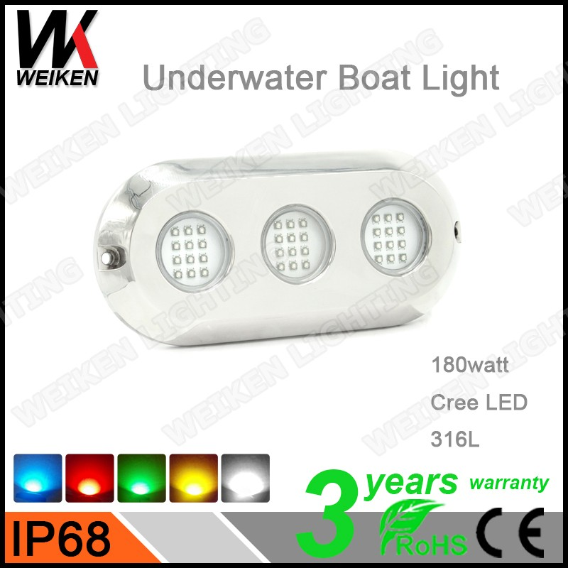 Bluetooth RGB Waterfall Fountain Light /90W Underwater Boat Light