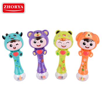 Zhorya battery operated baby rattles music toy with sound and light