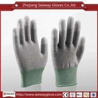 SEEWAY ESD Gloves Nylon PVC dotted Fingertips PU Gloves