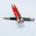 New Design Crown On The Top Promotion Ball Pen Diamond Top Pen Crysal Ballpoint Pen