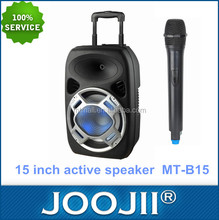 Portable 15 Inch Trolley DJ Speaker with USB/SD/FM Radio
