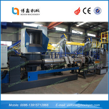 Top quality Plastic HDPE / LDPE /PP / PE /PET lumps or chunks recycling and granualting line with best price