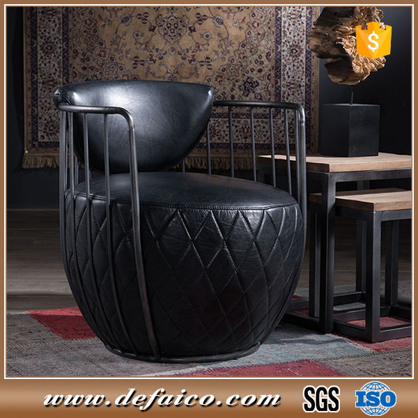 2017 Popular Black Leather Industrial Offiice Armchair