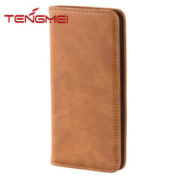 For HTC m9 high end tan leather case, strict QC for batch production cow leather case for HTC one M9