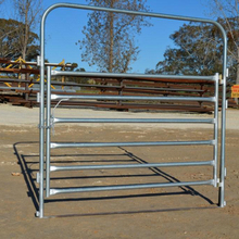 oval cattle rail and 40 x 40 box steel Heavy duty Cattle yard gates