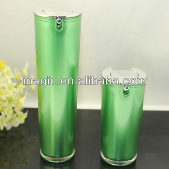 15ml 30ml acrylic cone airless pump bottles cosmetic plastic bottle