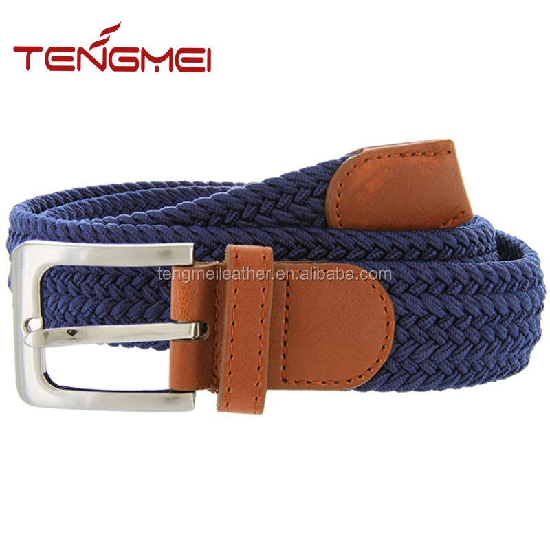Fabric Woven Stretch Leather Elastic Belts Wholesale