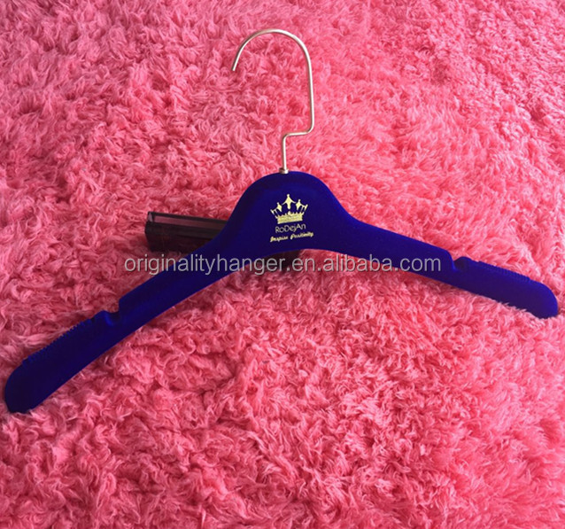 custom brand clothes velvet flocked hanger