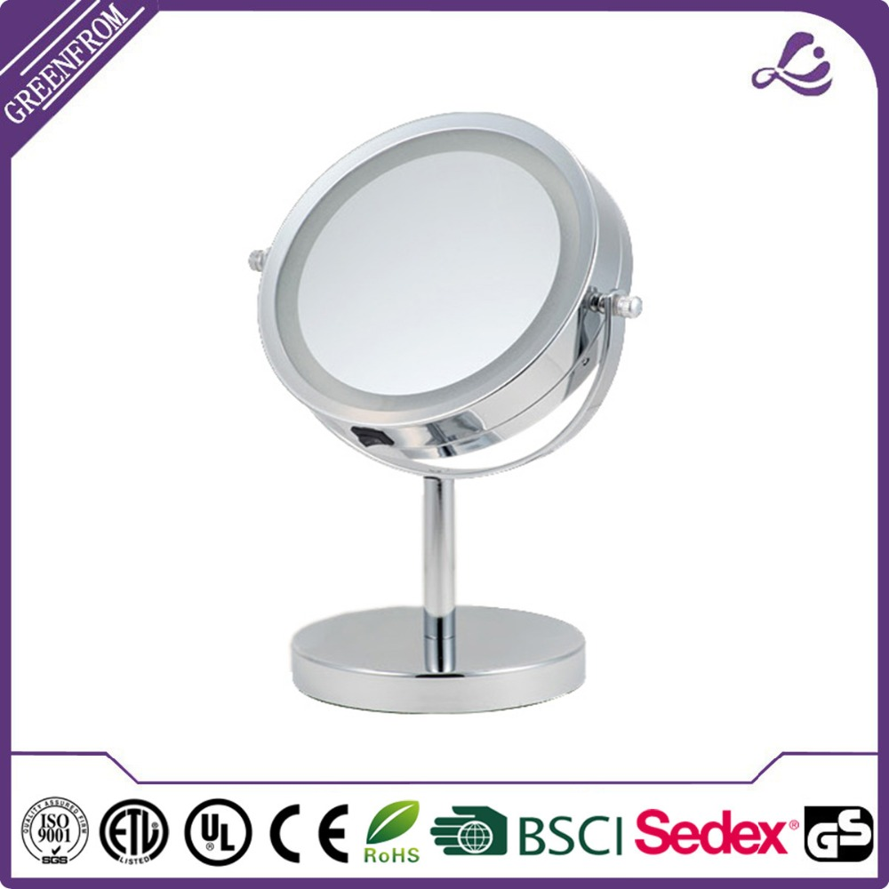 New design battery operated light cosmetic mirror mirror key chain