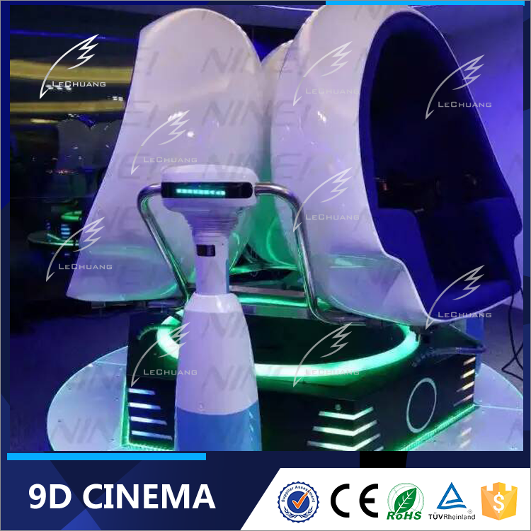 Cool Design Virtual Play Area Reality Vr Equipment Electric 3 Seats 9D VR Egg Cinema