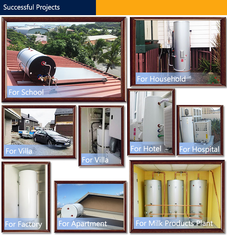 ISO9001 factory supply cylinder water tanks,500 liter stainless steel hot water heat pump cylinder tank