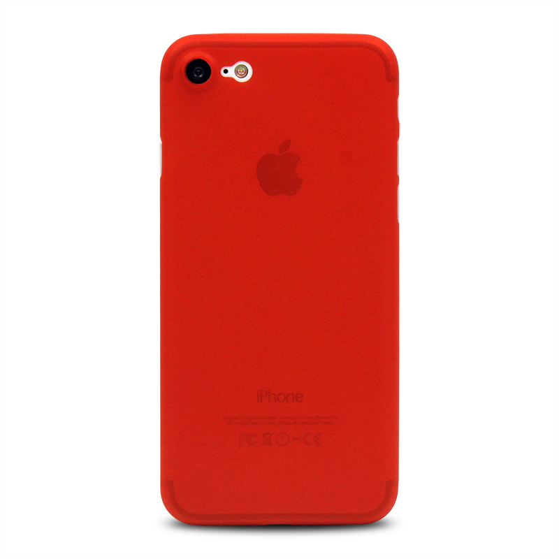 2017 Fashion solid red matte PP case for iPhone 7, for iPhone7 covers phone case