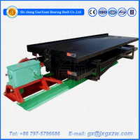 Gravity gold diamond separating machine double layers gold shaking table