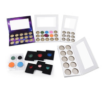 High Pigmented Darkness Eyeshadow Colors For Choose 15 Colors Private Label White Cardboard Empty Eyeshadow Palette