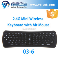 Vplus G03-6 Fly Air Mouse and mini Wireless Keyboard 2.4GHz Remote Control sale mini wireless keyboard