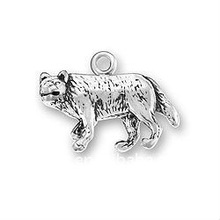 alloy plating antique silver Gray Wolf jewellery charms