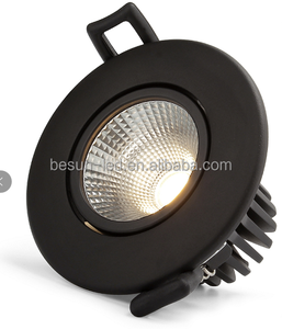 dim to warm 2000-2800k 7w 75mm cutout gyro 180 tilt led cob downlight with CE/RoHS certification