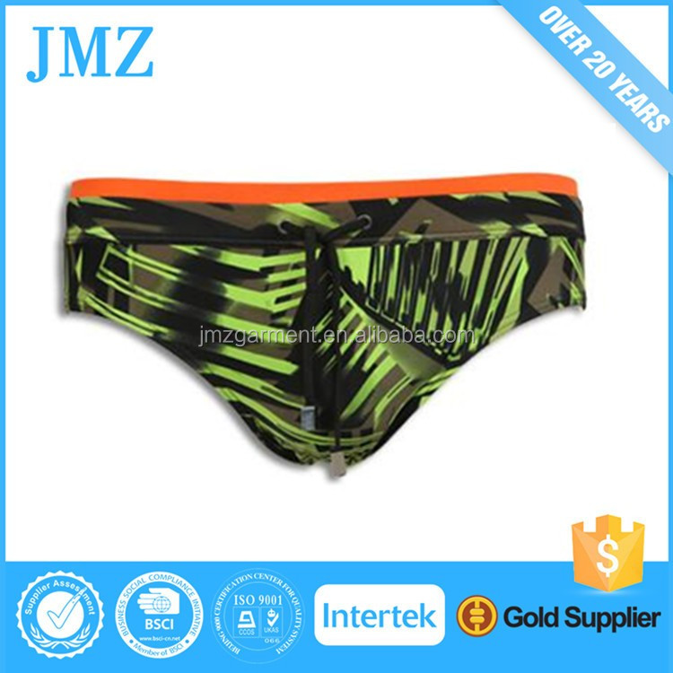 High quality fashion OEM lycra mens swimwear