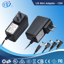 Portable UL CE GS ROHS Approved 12 volt 1 amp ac dc switching power supply for atm machine