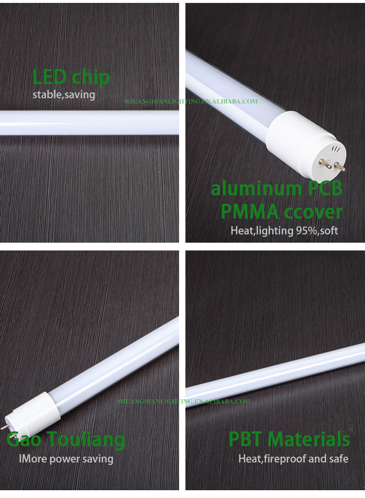 factory direct sale galss tube and t8 led glass tube