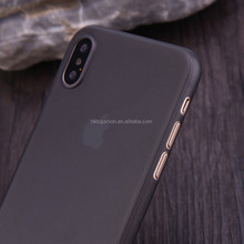 Super thin 0.3mm frosted mobile phone pp case for iphone x, for iphone 8/iphone x/note 8 plastic pp case cover