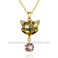 N1160 Gold jewelry fashion glitter stone necklace