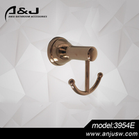 Rose Gold Chrome Material Bath Design Durable Product Plated Zinc Alloy Robe Hook