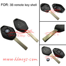 Car Remote Key Blank Shell with 2 track Blade for BM Car Key