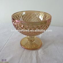 Colored Crystal Glass Dessert Bowl