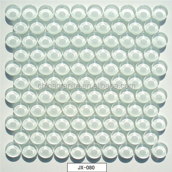 Wholesale top quality crystal white bubble glass tile for sale