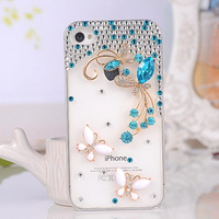 Fashion Mobile Diamond Bling Phone Case for iPhone 4,DIY Phone Case