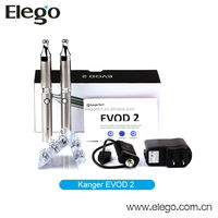 High Qulity Kanger EVOD 2 Starter Kit with Mouthpiece Changeable EVOD-2 Atomizer Wholesale E Cigarette Distributors
