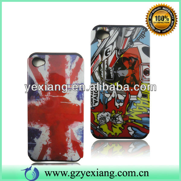 Customized Cell Phone Back Case Double Cover Case For Iphone 4
