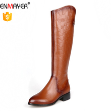 Custom made leather thigh high boots feast party wear lady boots daily work comfort woman shoes