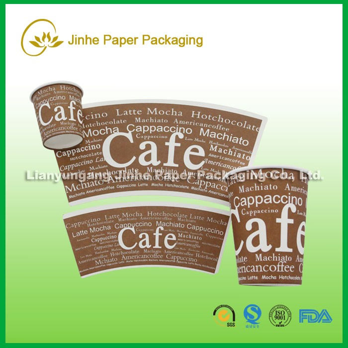 Jinhe hot coffee to go sleeve /paper cup fan for coffee cups making