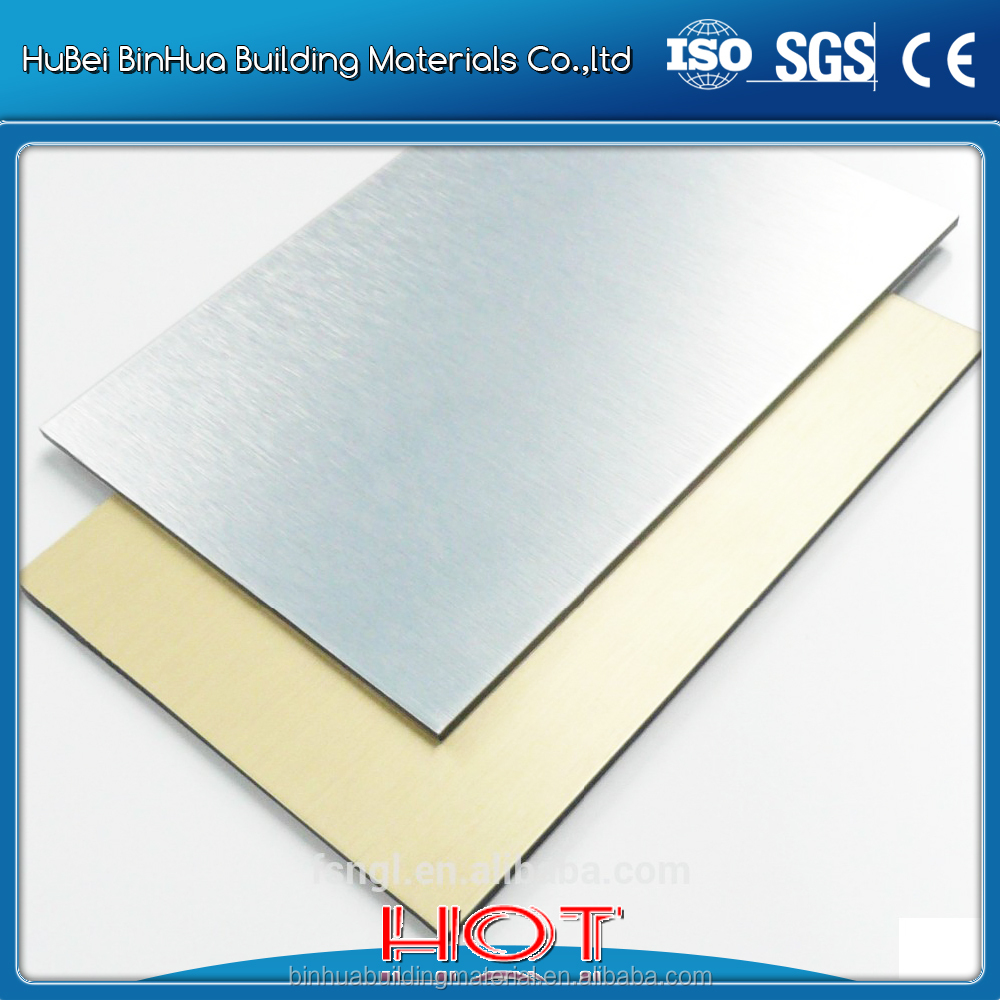 Brushed aluminum composite panel curtain wall interior decoration/exterior wall panel