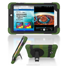 shockproof robot stand rubber tablet case for Galaxy Tab E 8.0 T377 rugged PC 360 cover