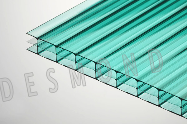 Desmond polycarbonate hollow sheet super clear quality 10mm 100% Bayer material 10-year guarantee/pc hollow sheet /roofing sheet