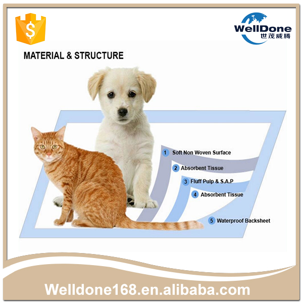 Hot Sale High Quality Waterproof Disposable pet trainning pad from China manufacturer