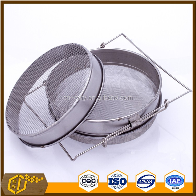 Beekeeping tool double layer stainless steel honey strainer